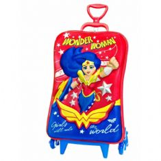 Foto  Mochila 3D com Rodas  Tripla Super Hero Girls